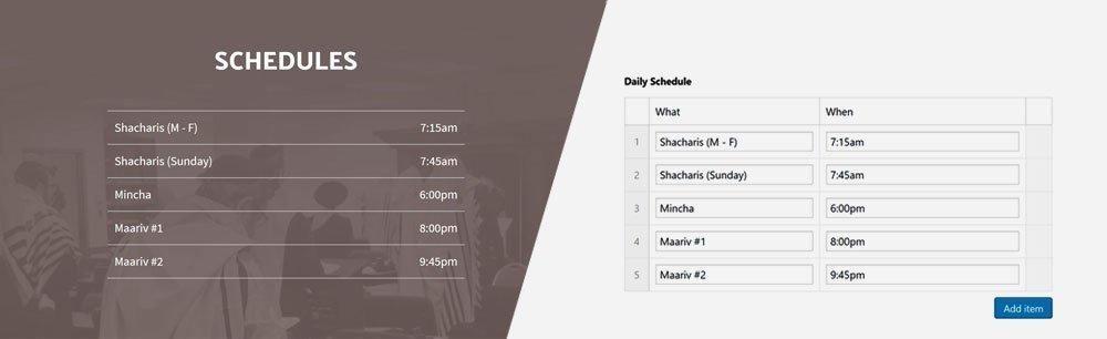 KOY schedules